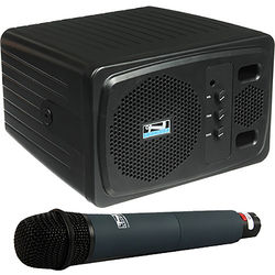 Anchor Audio AN130BPBKHH+ Powered Speaker with Wireless Handheld Microphone (Black)