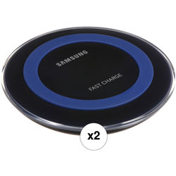 Samsung Fast Charge Qi Wireless Charging Pad Kit (Blue, 2-Pack)