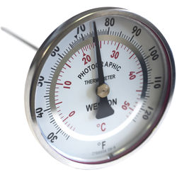 "Weston Stainless Steel Dual Scale Thermometer 3"" Dial"