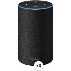 Amazon Echo 3-Pack Kit (2nd Generation, Charcoal Fabric)