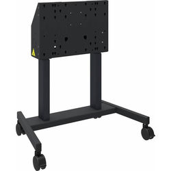 QOMO Motorized Height-Adjustable Mobile Stand for Interactive Flat Panels