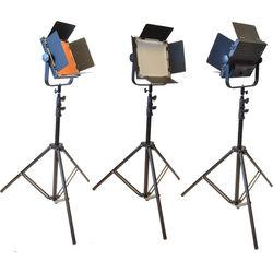 Bescor AL-576T LED Studio 3-Light Kit