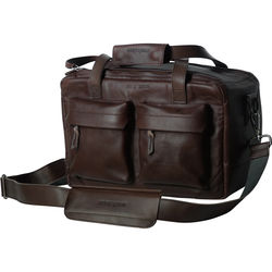 """compagnon """"The Little Weekender"""" Leather Bag (Dark Brown)"""