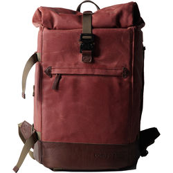 compagnon The Backpack for Camera & Laptop (Red / Dark Brown)
