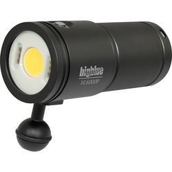 Bigblue VL6000P Video LED Dive Light (Black)