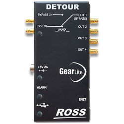 Ross Video Detour 12G-SDI Relay Bypass 1x4 Distribution Amplifier