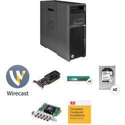 B&H Photo PC Pro Workstation Dual 2.1 GHz 8-Core / Wirecast Pro 8 / Quadro 4GB / DeckLink Duo 2 / 32GB RAM / 8TB HDD / 256GB SSD