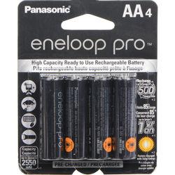 Panasonic eneloop pro AA Rechargeable NiMH Batteries (1.2V, 2550mAh, 4-Pack)