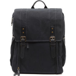 ONA The Camps Bay Backpack (Black, Canvas/Leather)