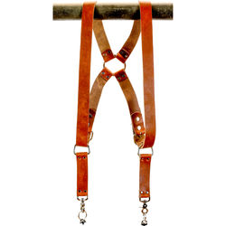 "Funk Plus Water Buffalo Leather Ring Back Harness with 1.5"" Wide Straps (Dark Tan)"