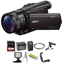 Sony FDR-AX100 4K Camcorder Deluxe Kit