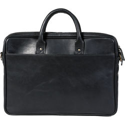 "ONA The Leather Kingston 15"" Laptop Briefcase (Black)"