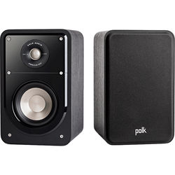 Polk Audio Signature Series S15 2-Way Bookshelf Speakers (Washed Black Walnut, Pair)