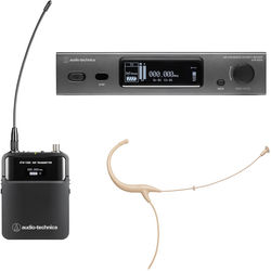 Audio-Technica ATW-3211/894-THEE1 3000 Series Fourth Generation Wireless Microphone System with BP894cH-TH Headworn Mic (EE1: 530.000 to 589.975 MHz, Beige)