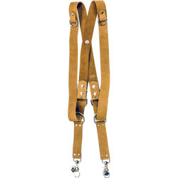 """Funk Plus Suede Leather Snap Back Harness with 1.5"""" Wide Straps and D-Rings (Brown)"""