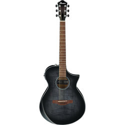 Ibanez AEWC400 AEW Series Acoustic/Electric Guitar (Transparent Black Sunburst High Gloss)