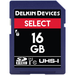 Delkin Devices 16GB Select UHS-I SDHC Memory Card