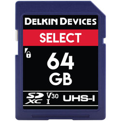 Delkin Devices 64GB Select UHS-I SDXC Memory Card