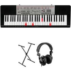 Casio LK-190 61-Key Keyboard Starter Kit with Key-Lighting System
