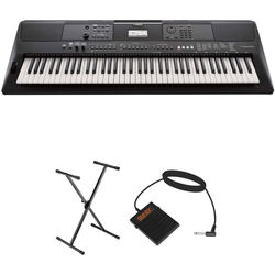 Yamaha PSR-EW410 Essential Keyboard Kit with Stand and Pedal