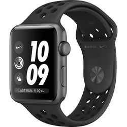Apple Watch Nike+ Series 3 42mm Smartwatch (GPS Only, Space Gray Aluminum Case, Anthracite/Black Nike Sport Band Band)