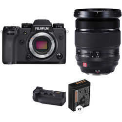 Fujifilm X-H1 Mirrorless Digital Camera with 16-55mm Lens and Battery Grip Kit
