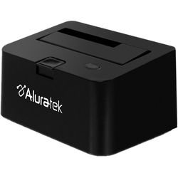 "Aluratek SuperSpeed USB 3.1 Gen 1 2.5""/3.5"" SATA Hard Drive Docking Enclosure"