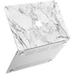 "iBenzer Neon Party MacBook Air 11"" Case (White Marble)"