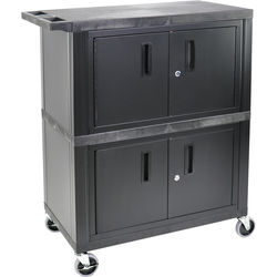 Luxor WT60-B Utility Cart for A/V Storage