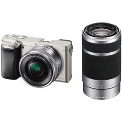 Sony Alpha a6000 Mirrorless Digital Camera with 16-50mm and 55-210mm Lenses Kit (Silver)