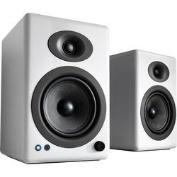 Audioengine A5+ Wireless 2-Way Active Bluetooth Bookshelf Speakers (Hi-Gloss White, Pair)