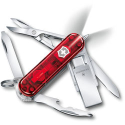 Victorinox Midnite Manager@work Pocket Knife (Red Transparent)