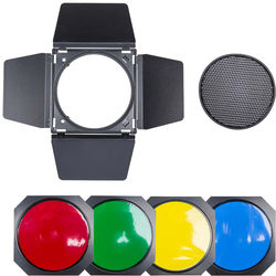 Studio Essentials Barndoors with Color Gel Set