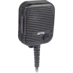 Otto Engineering Evolution Speaker Mic with Coil Cord, Volume Control, Emergency Button, and 2.5mm Earphone Jack (Harris, EB Connector)