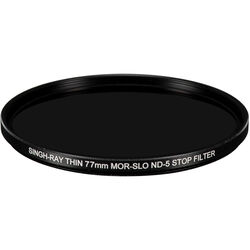 Singh-Ray 77mm Thin Mor-Slo Solid Neutral Density 1.5 Filter with Front Filter Threads (5 Stops)