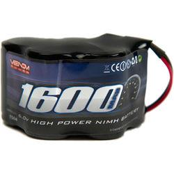 Venom Group Venom 6V 1600mAh 5-Cell Hump Receiver NiMH Battery