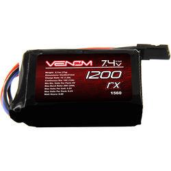 Venom Group Venom 10C 2S 1200mAh 7.4V Hump Receiver Pack Lipo Battery