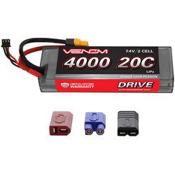 Venom Group Venom 20C 2S 4000mAh 7.4V Hard Case Lipo Battery With Universal Plug System
