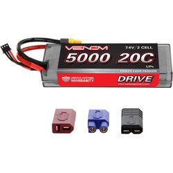 Venom Group Venom 20C 2S 5000mAh 7.4V Hard Case Lipo Battery With Universal Plug System
