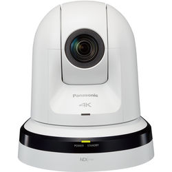 Panasonic 20x Zoom 4K PTZ Camera with 3G/HD/SD-SDI & HDMI Output and NDI (White)