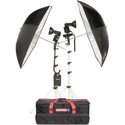 Quantum Instruments 2-Head Flash Kit w/ Trio & T5dR Flash Heads & Turbo 3 & Turbo Blade Batteries for Canon Cameras