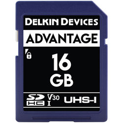 Delkin Devices 16GB Advantage UHS-I SDHC Memory Card