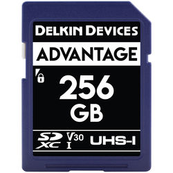 Delkin Devices 256GB Advantage UHS-I SDXC Memory Card