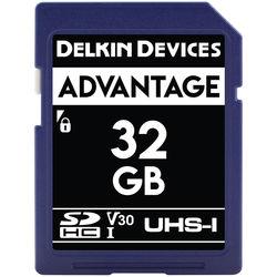 Delkin Devices 32GB Advantage UHS-I SDHC Memory Card