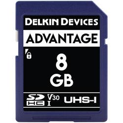 Delkin Devices 8GB Advantage UHS-I SDHC Memory Card
