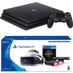 Sony PlayStation 4 Pro Gaming Console Kit with PlayStation VR Skyrim VR Bundle