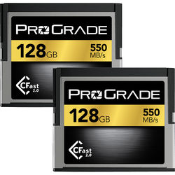 ProGrade Digital 128GB CFast 2.0 Memory Card (2-Pack)