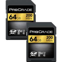 ProGrade Digital 64GB UHS-II SDXC Memory Card (2-Pack)