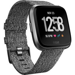 Fitbit Versa Fitness Watch Special Edition (Charcoal Woven/Graphite Aluminum)