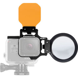 Flip Filters FLIP6 Pro Package with SHALLOW, DIVE & DEEP Filters & +15 MacroMate Mini Lens for GoPro 3, 3+, 4, 5, 6